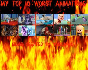 My Top 10 Worst Animations Meme