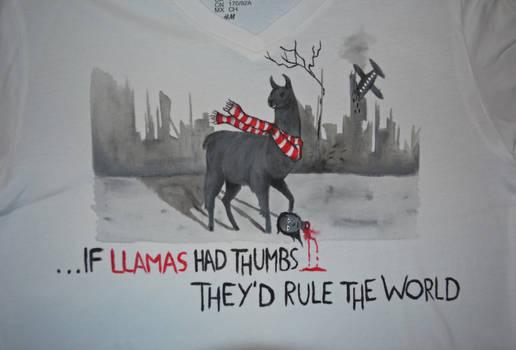 If llamas had thumbs... - T-shirt