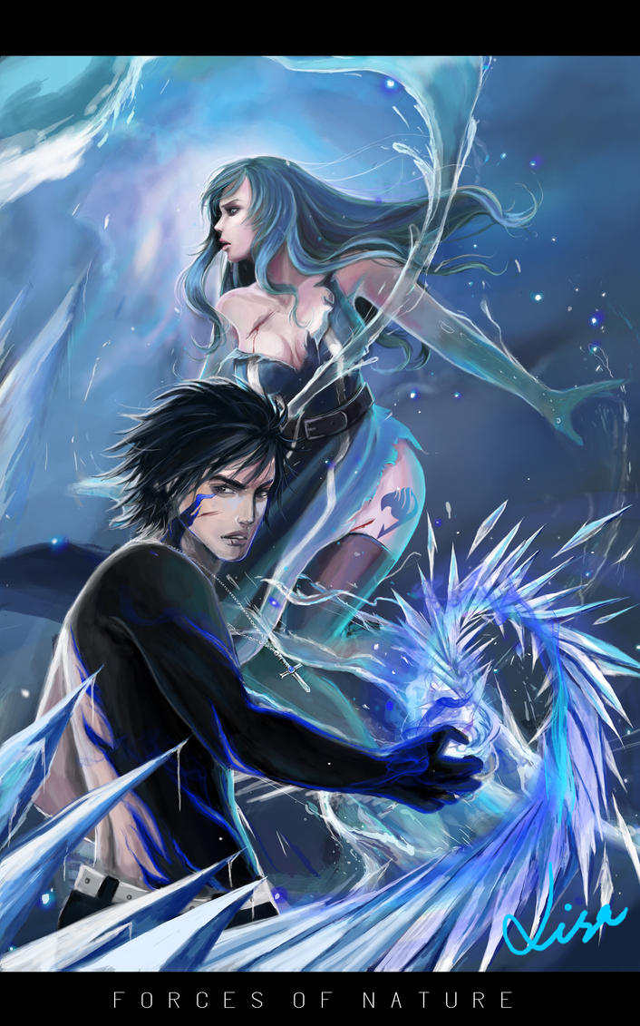 forces of nature gray and juvia by warb1rd on deviantart