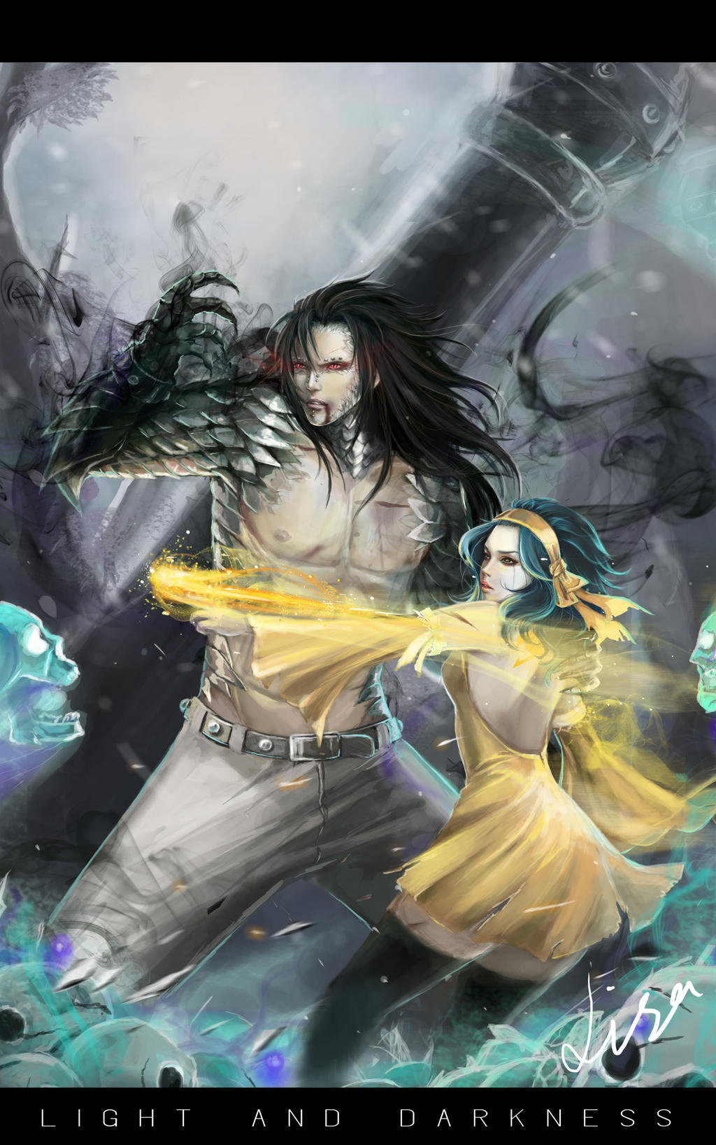 light_and_darkness___gajeel_and_levy_by_