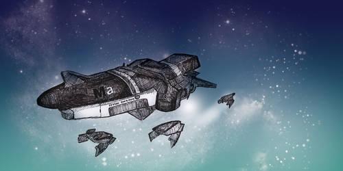 Spaceship by Diomhair