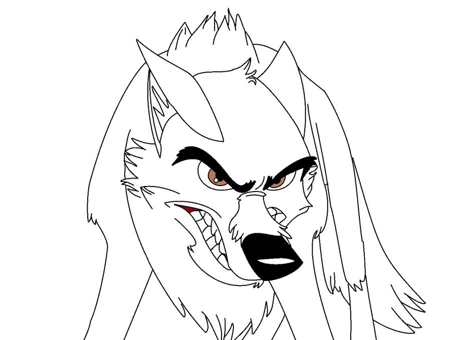 Angry wolf lineart by xXNishkaChibiXx on DeviantArt