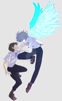 i can be your angle or yuor devil, shinji