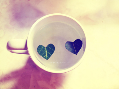 A cup full of HEARTS by alilyofthevalleys