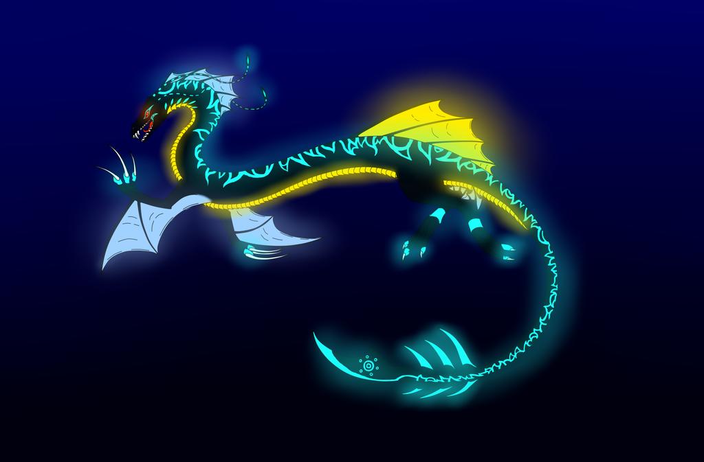 Aquatic dragon for Captain-Savvy by ColdBlod23