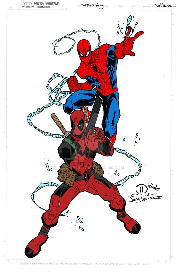 Deadpool and Spidey by Plugin848y