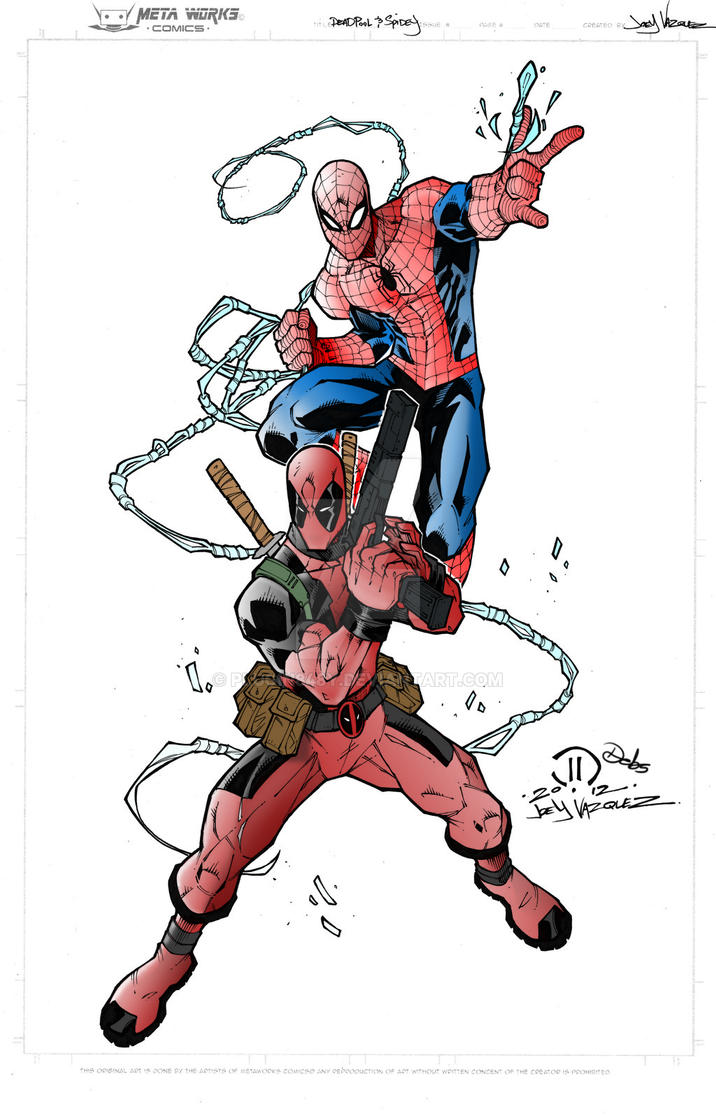WIP Deadpool and Spidey by Plugin848y
