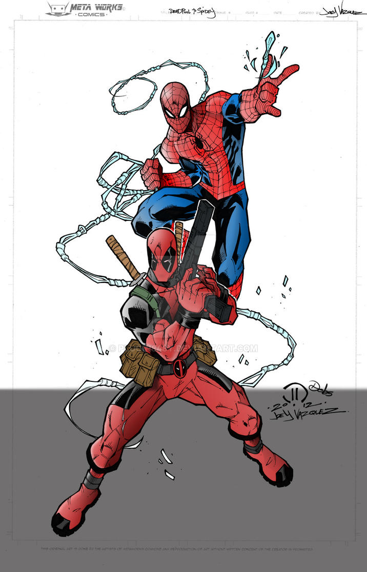 WIP 2 Deadpool and Spidey by Plugin848y