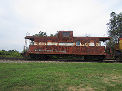 Caboose in Malden Indiana with C O 7311 by Nightwolf7311