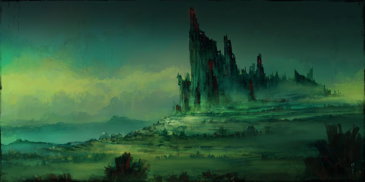 Философия в картинках - Страница 11 Creepy_castle_by_chriscold-d7txxus