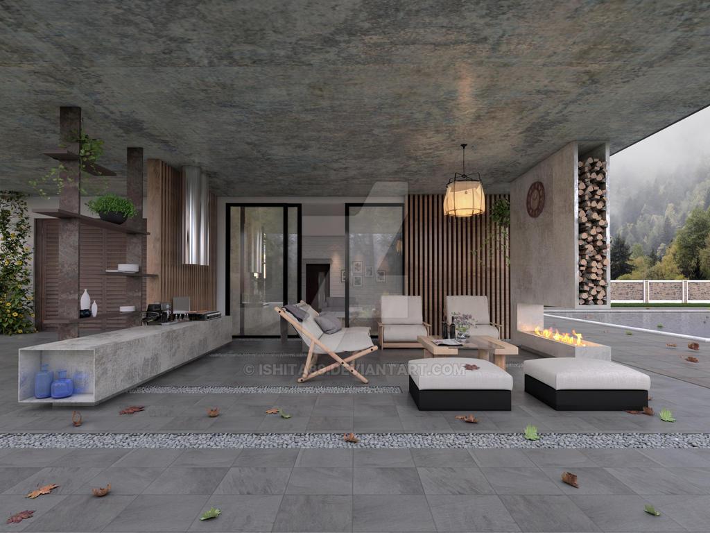 Exterior varandah 01 by Ishita89