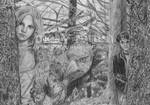 Hermione, Buckbeak and Harry