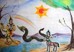 Thai serpent  and tHai angels