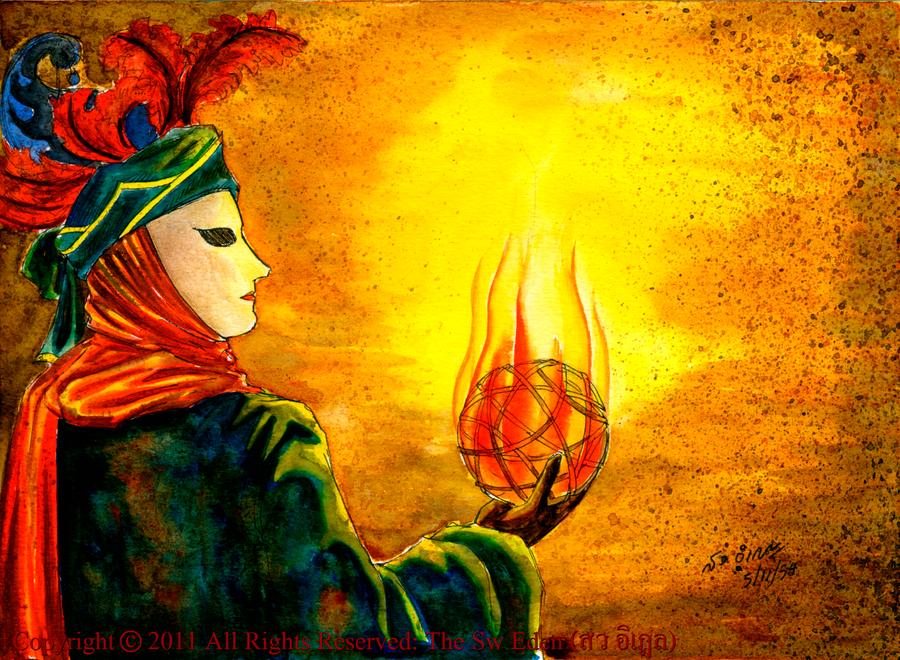 Fiery Sepak Takraw King Tabinshwehti by sw-eden