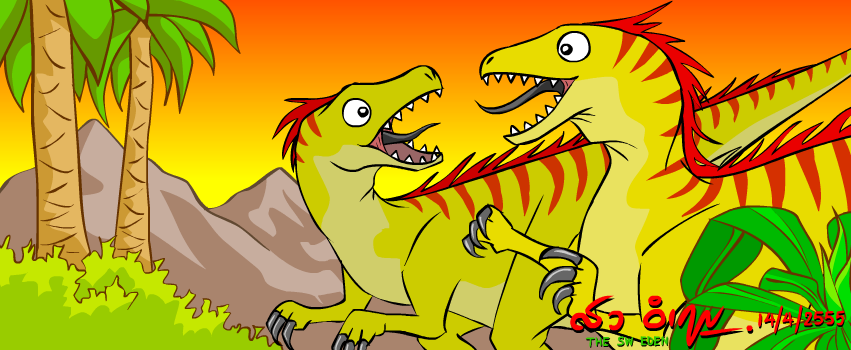 Utahraptors Facebook Cover by sw-eden