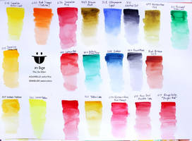 SENNELIER Watercolor Shade Test Sample by sw-eden
