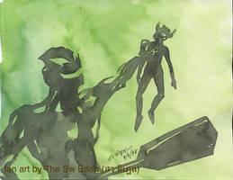 Ultraman Belial and Ultraman Taro by sw-eden
