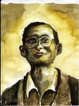 King Bhumibol Adulyadej watercolor