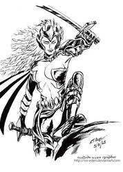 Warbird X-Men Inked by the Sw Eden by sw-eden