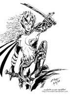 Warbird X-Men Inked by the Sw Eden by sw-eden