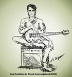 Mayday Parade Alex Garcia fan art guitar