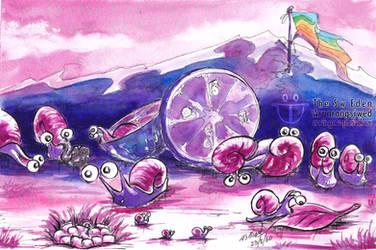 Hermaphrodite Snails Lay Eggs