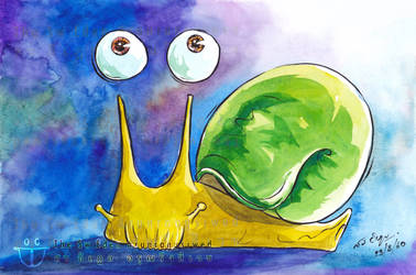 Thai Green Snail Number One Smiling