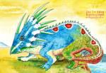Blue head lizard Ceratopsian Dinosaur