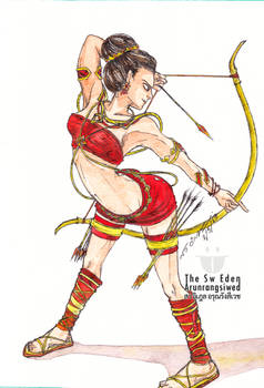Lady from the East as Archery Princess Warrior