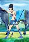 Khin Nanda Warrior in Blue