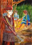 Khin Nanda the Archery in Red