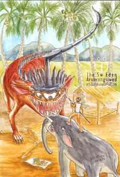 Seven-Eyed Revelation Beast and Gomphotherium