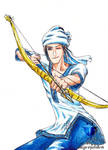 Zlatan Archery with bow and arrow