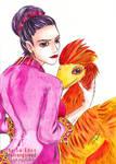 Atula Thiri Maha Yaza Dewi and Red Microraptor