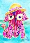 Elephant Pink Watercolor