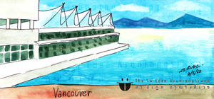 Canada Place On Burrard Inlet Waterfront Vancouver