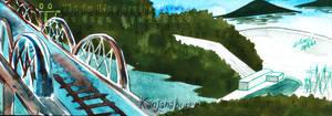 The Bridge Of The River Kwae And Srinakharin Dam