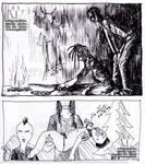 Hatch Hatching: Old School Comics Panels Dark