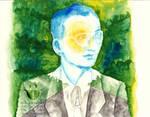 King Rama 9 Bhumibol Adulyadej watercolor abstract