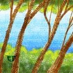 SketchBook: tree and water