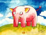 Pink Asia Elephant