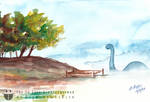 Tree Water Nothosaurus Nessie
