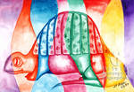 Colorful Vivid Dimetrodon