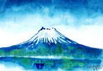 Fuji Mountain Watercolor