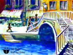 Venis Bridge watercolor