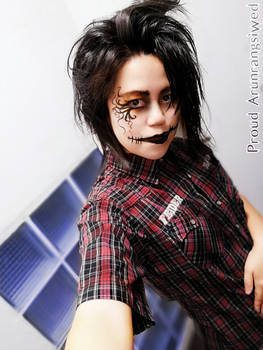 Try the face paint like Gothic or Jack Skellington