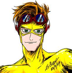 Kid Flash Wally West Fan Art by Proud Arunrangsiwe