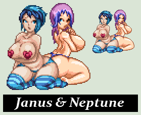 Symmetry: Janus and Neptune by RadioDroneXx