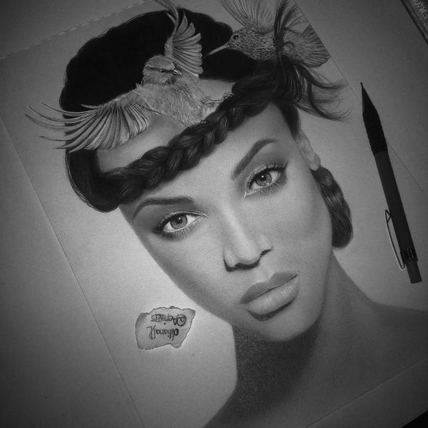 Tyra Banks Black And White: Tyra Banks Birds (done) By Aeriz85 On DeviantArt
