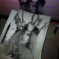 drawing Rosie Huntington (done) by Aeriz85